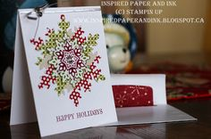 Stampin Up Christmas card using Festive Flurry stamp set and thinlits