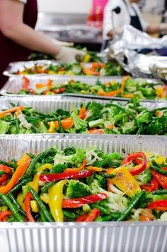 Ingredients, prep and instructions for a Sautéed vegetable medley for up to 300 servings. After preparation; just prior to serving transfer to several 20 x 12 x 4 (full size) OR 10 x 12 x 2 (half size) steam trays.