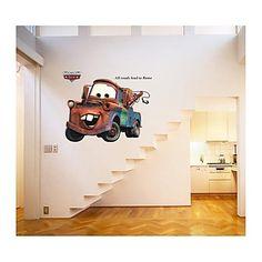 muurstickers muur stickers, stijl cartoon auto algemene mobilisatie pvc muurstickers – EUR € 16.35