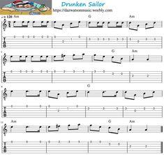 Guitar Tabs Songs, Easy Guitar Songs, Aiken Drum, Guitar Tabs For Beginners, Ashokan Farewell, Guitar Tutorial, Folk Music, Mandolin, Sailor