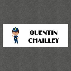 """16 Etiquettes scolaires personnalisées Thème """"Police Garçon"""" : Stickers par creerpourvous"""