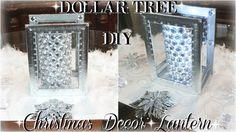 DIY CHRISTMAS DECOR ON A BUDGET | DIY DOLLAR TREE LANTERN DECOR | DIY DO...