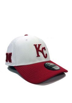 37726f917e1 New Era Kansas City Royals Mens White Co Branded 3930 Flex Hat Nebraska  Cornhuskers