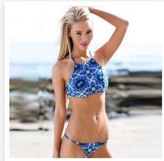 Cheap bikini crochet, Buy Quality bikini lingerie directly from China swimsuit competition bikinis Suppliers: 2015 summer Sexy Women Bikini Push-up Padded Floral Print Swimsuit Bra Swimwear Bathing Suit biquini brazilian maillot d