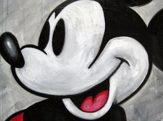 Classic Mickey Mouse - Frankie Serna acrylic on canvas original size 16x20 constrained 4x3