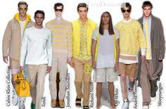 Акценты желтого оттенка в мужской одежде весной 2015 года