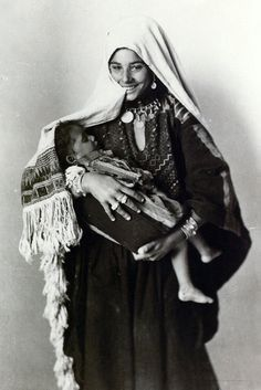 Palestine | Mother and son.  1918 - 1935 | ©R. Khalil Raad