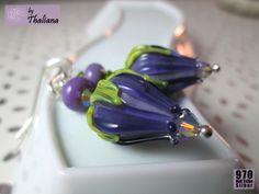 ***ECHT SILBER*** UNIKAT-Ohrringe Tintenknospen von Thaliana schenkt Dir die Geschenkverpackung! auf DaWanda.com