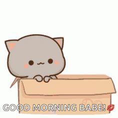 Cute Doodle Art, Cute Doodles, Cute Good Morning Gif, Bear Gif, Cute Couple Gifts, Cute Romantic Quotes, Chibi Cat, Cute Couple Drawings, Cute Kawaii Animals