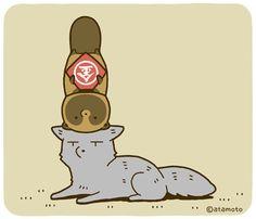 アタモト(@atamotonu)さん | Twitter Short Comics, Racoon, Funny Art, Shiba Inu, Kawaii Cute, Cute Creatures, Cute Cartoon, Animal Drawings, Cute Art