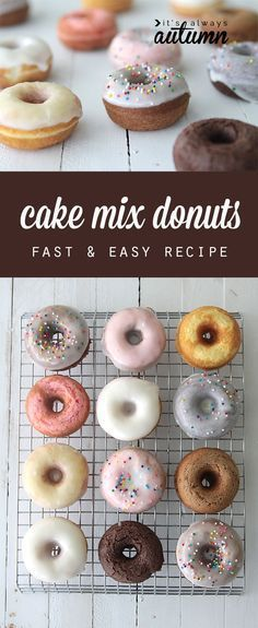 great idea! you can use a cake mix to make quick and easy donuts in any flavor with this simple recipe. baked not fried!