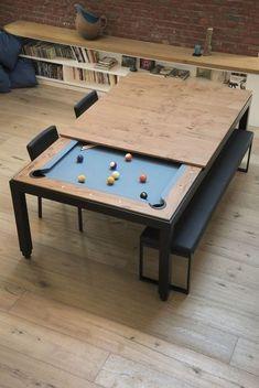 Pool Table Dining Table, Pool Table Room, Dinner Table, Pool Tables, Round Tables, Small Pool Table, Diy Pool Table, Game Room Tables, Game Room Bar