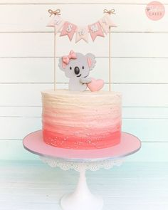 I can't remember how many times I stared at this before I decided it's time to let it go. 4th Birthday Cakes, Girls Birthday Party Themes, Bear Birthday, 6th Birthday Parties, Birthday Cake Girls, Baby Girl Shower Themes, Baby Shower Cakes, Bunny Party, Diy Baby Gifts