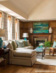 Baker residence, Little Rock. Interior designer Kathryn...
