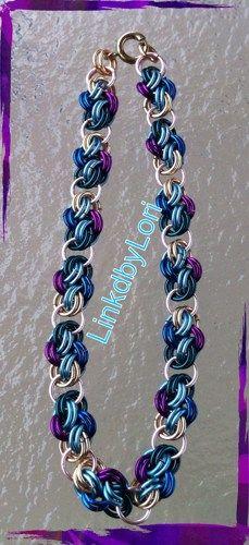 Four Winds Bracelet in jewel tone colors!! | Linkdbylori - Jewelry on ArtFire