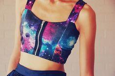 ℓσνє тнιѕ♥ am i the only one still loving galaxy print? Teen Fashion Outfits, Outfits For Teens, Cool Outfits, Casual Outfits, Womens Fashion, Style Fashion, Mode Geek, Galaxy Outfit, Jupe Short
