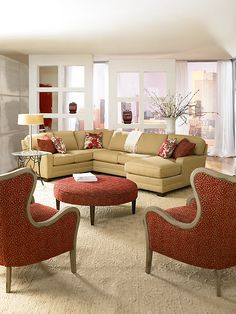 King Hickory Furniture The Chairs And Ottoman Are Wonderful Large