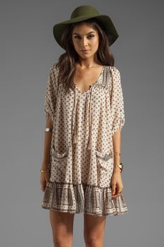 Free People Penny Lane Dress in Tea Very cute smock, the hat not so much