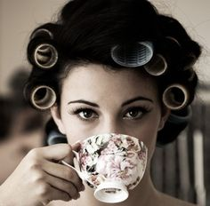 love the rollers & teacup