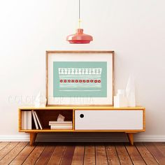 Minimal wall art with small birds for an ethnic wall decor. By Colors for Nuna