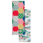 Set of 2 Patchwork Spot & Beacon View Tea Towels-Cath Kidston