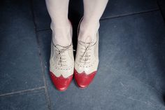 red toe oxfords