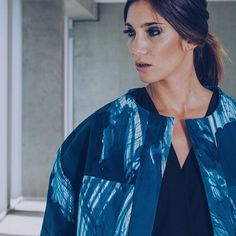Blue statment oversize jacket - miaandthemouse -