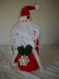 Santa con copo de nieve