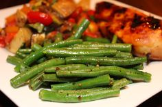 easiest green beans ever......