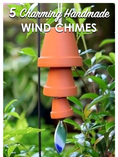 Add charm to your garden or patio with a handmade wind chime. But be sure to test the sound so your finished product is pleasing to the ear. A DIY terra cotta wind chime is surprisingly melodic. Other materials that create soothing sounds include bells, metal pipes, and bamboo. For subtler sounds, use seashells, sea glass, or cutlery. A spoon fish wind chime made out of vintage silver spoons is lovely to listen to, and adorable to look at! Visit eBay for more charming handmade wind chime ide...