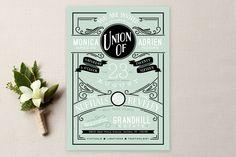 Romantic Revelry Wedding Invitations by GeekInk Design at minted.com