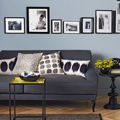 Pale Blue And Charcoal Grey Living Room Living Room Navy Blue Couches Living Room Charcoal Living Rooms, Living Room Grey, Living Room Sofa, Living Room Decor, Charcoal Couch, Grey Room, Living Room Modern, Living Room Designs, Living Room Pictures