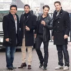 Broadway-bound: Il Divo, from left, Carlos Marin, Sébastien Izambard, Urs Bühler and David Miller, leave the ITV studios in London in April. They launched A Musical Affair on Broadway last week
