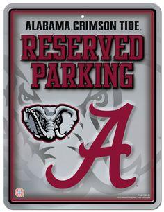 Alabama Crimson Tide Metal Parking Sign