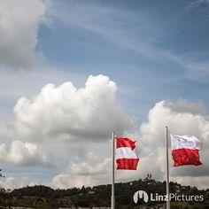 Windiger Tag hier in #linz  . . . #wind #noselfie #igerslinz #linzpictures #upperaustria #pöstlingberg #city #sky #view #patriots #austria #austriafirst #flag #fahne #skyporn #visitaustria #travel #instadaily #pictureoftheday #window #blueskies #flying #stormclouds #clouds #streetstyle