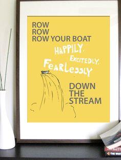 Row Row... print.