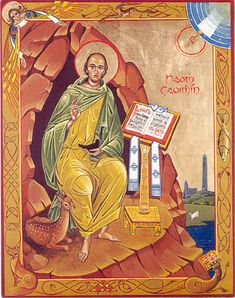 Saint Cóemgen (modern Irish: Caoimhín), popularly anglicized to Kevin (d. c.618) is an Irish saint who was known as the founder and first abbot of Glendalough in County Wicklow, Ireland.
