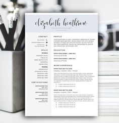Resume Template | The Emily | Pinterest | Template, Creative and ...