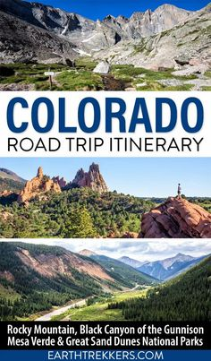 On this Colorado road trip itinerary, visit all 4 national parks, plus numerous scenic drives and historic towns. Visit Rocky Mountain National Park, Great Sand Dunes National Park, Mesa Verde National Park, Black Canyon of the Gunnison, Garden of the Gods, Mount Evans, Pikes Peak, Aspen, Snowmass, and more. Includes detailed 7, 10 and 14 day itineraries.