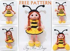 Amigurumi Bee Girl-Free Pattern