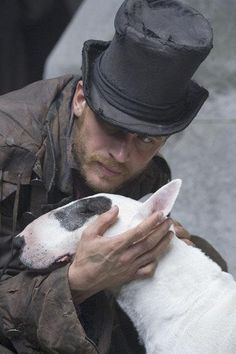 Tom Hardy in Oliver Twist. #englishbullterrier
