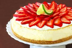 Strawberry margarita cheesecake...filled with all of the fresh strawberry and lime goodness of your favorite drinks, a salty pretzel crust, plus the tequila and Grand Marnier to make it a par-tay.