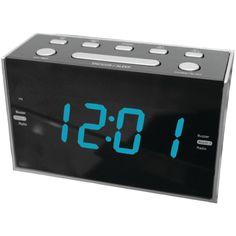 Sylvania SCR1053 1.2-Inch Jumbo Digit Dual Alarm Clock Radio with Blue LED
