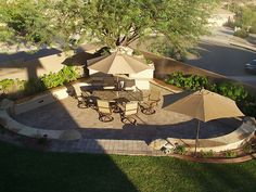 A Beautiful sunken in patio from Arid Oasis Landscapes!