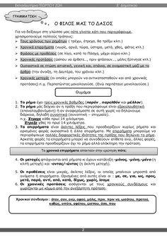 γλώσσα ε΄ δημοτικού α΄τεύχος Notes, Education, School, Greek, Report Cards, Greek Language, Notebook, Schools, Teaching
