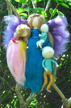 Wool fairy and three babes by smilerynker.dk