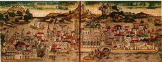 Venezia 1493. Nuremberg map in color!