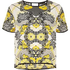 Yellow print top £25.00