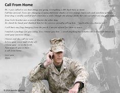 Call from home ❤ Military Mom, Army Mom, Marine Corps, Marine Life, Marine Mom Quotes, Army Brat, Marines Girlfriend, Navy Sailor, Semper Fi
