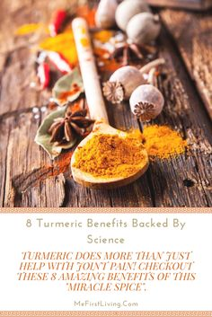 8 amazing turmeric benefits that are actually backed by science! #Health
